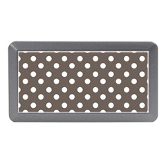 Brown And White Polka Dots Memory Card Reader (mini)