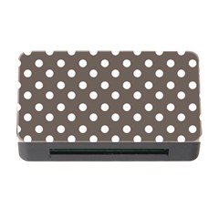 Brown And White Polka Dots Memory Card Reader With Cf