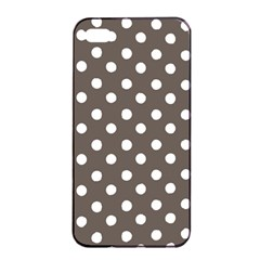 Brown And White Polka Dots Apple iPhone 4/4s Seamless Case (Black)