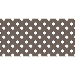 Brown And White Polka Dots You Are Invited 3d Greeting Card (8x4)