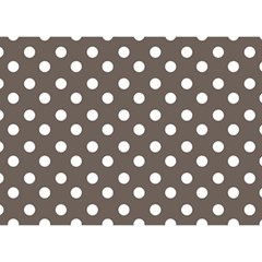 Brown And White Polka Dots Birthday Cake 3D Greeting Card (7x5)