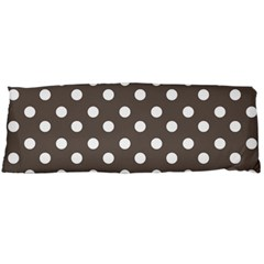 Brown And White Polka Dots Body Pillow Cases (Dakimakura)