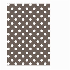 Brown And White Polka Dots Large Garden Flag (two Sides)