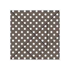 Brown And White Polka Dots Acrylic Tangram Puzzle (4  x 4 )