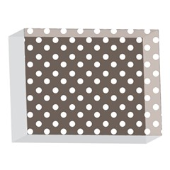 Brown And White Polka Dots 5 x 7  Acrylic Photo Blocks