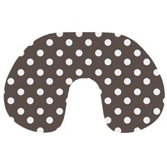 Brown And White Polka Dots Travel Neck Pillows