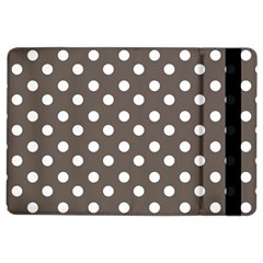 Brown And White Polka Dots iPad Air 2 Flip