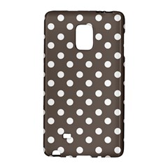 Brown And White Polka Dots Galaxy Note Edge