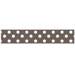 Brown And White Polka Dots Flano Scarf (Large)