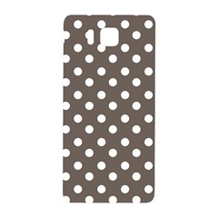 Brown And White Polka Dots Samsung Galaxy Alpha Hardshell Back Case