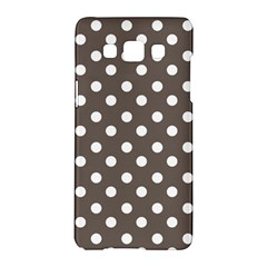 Brown And White Polka Dots Samsung Galaxy A5 Hardshell Case