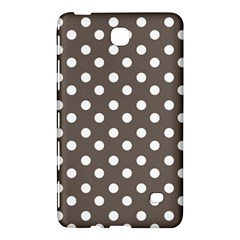 Brown And White Polka Dots Samsung Galaxy Tab 4 (7 ) Hardshell Case