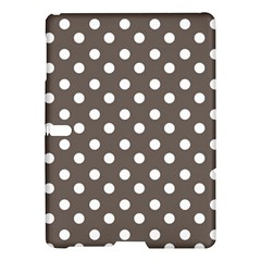 Brown And White Polka Dots Samsung Galaxy Tab S (10.5 ) Hardshell Case