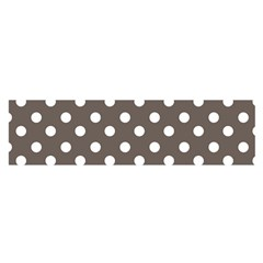 Brown And White Polka Dots Satin Scarf (Oblong)