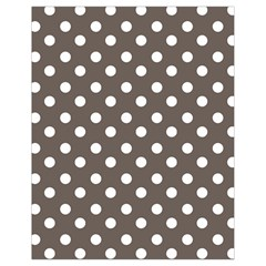Brown And White Polka Dots Drawstring Bag (Small)