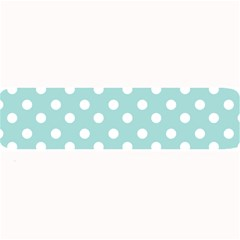 Blue And White Polka Dots Large Bar Mats