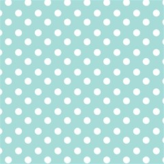Blue And White Polka Dots Magic Photo Cubes