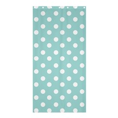 Blue And White Polka Dots Shower Curtain 36  x 72  (Stall)