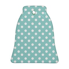 Blue And White Polka Dots Bell Ornament (2 Sides)