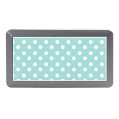 Blue And White Polka Dots Memory Card Reader (Mini)