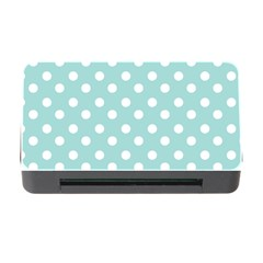 Blue And White Polka Dots Memory Card Reader with CF