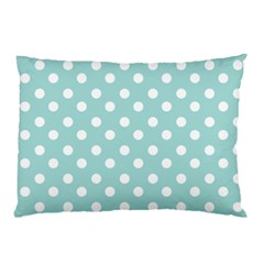 Blue And White Polka Dots Pillow Cases (two Sides)