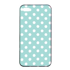 Blue And White Polka Dots Apple Iphone 4/4s Seamless Case (black)