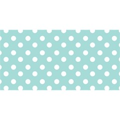Blue And White Polka Dots You Are Invited 3d Greeting Card (8x4)