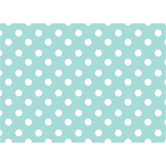 Blue And White Polka Dots Birthday Cake 3d Greeting Card (7x5)