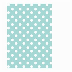 Blue And White Polka Dots Small Garden Flag (Two Sides)