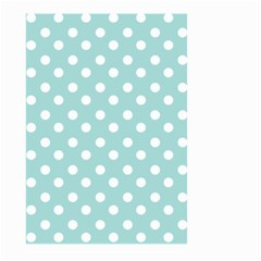 Blue And White Polka Dots Large Garden Flag (Two Sides)