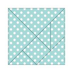 Blue And White Polka Dots Acrylic Tangram Puzzle (6  x 6 )