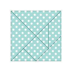 Blue And White Polka Dots Acrylic Tangram Puzzle (4  X 4 )