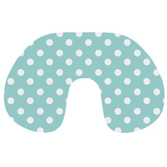 Blue And White Polka Dots Travel Neck Pillows