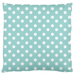 Blue And White Polka Dots Standard Flano Cushion Cases (One Side)