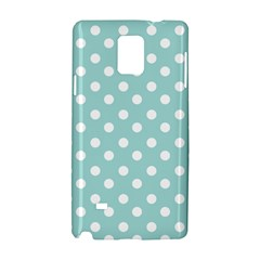 Blue And White Polka Dots Samsung Galaxy Note 4 Hardshell Case