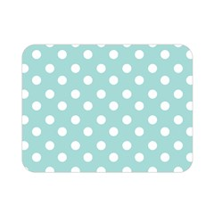 Blue And White Polka Dots Double Sided Flano Blanket (Mini)
