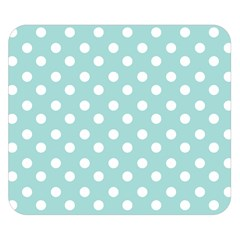 Blue And White Polka Dots Double Sided Flano Blanket (Small)