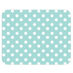 Blue And White Polka Dots Double Sided Flano Blanket (Medium)