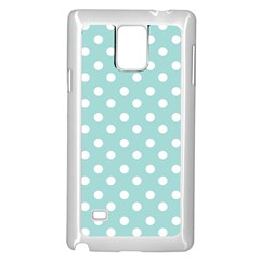 Blue And White Polka Dots Samsung Galaxy Note 4 Case (white)