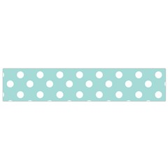 Blue And White Polka Dots Flano Scarf (Small)
