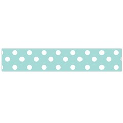 Blue And White Polka Dots Flano Scarf (Large)