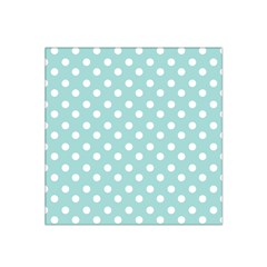 Blue And White Polka Dots Satin Bandana Scarf