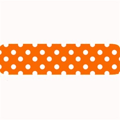Orange And White Polka Dots Large Bar Mats