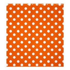 Orange And White Polka Dots Shower Curtain 66  x 72  (Large)