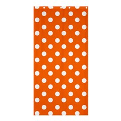 Orange And White Polka Dots Shower Curtain 36  X 72  (stall)