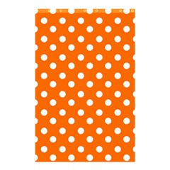 Orange And White Polka Dots Shower Curtain 48  x 72  (Small)