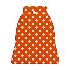 Orange And White Polka Dots Ornament (bell)