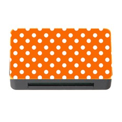 Orange And White Polka Dots Memory Card Reader With Cf