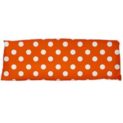 Orange And White Polka Dots Body Pillow Cases (Dakimakura)